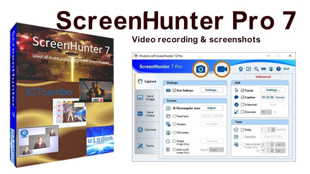 ScreenHunter Pro Crack 7.0.1055 with License Key 2020 Torrent
